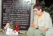 Tonia at Family Grave